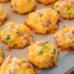 Cheesy Ham and Jalapeno Puffs (keto + low carb)