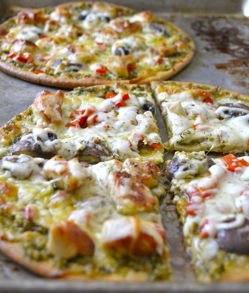 Pesto Chicken Pizza