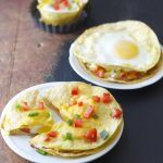Baked Ham, Egg, and Red Pepper Stacks