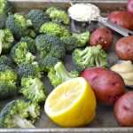Lemon Dijon Roast Potatoes and Broccoli