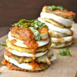 Eggplant Mozzarella Stacks