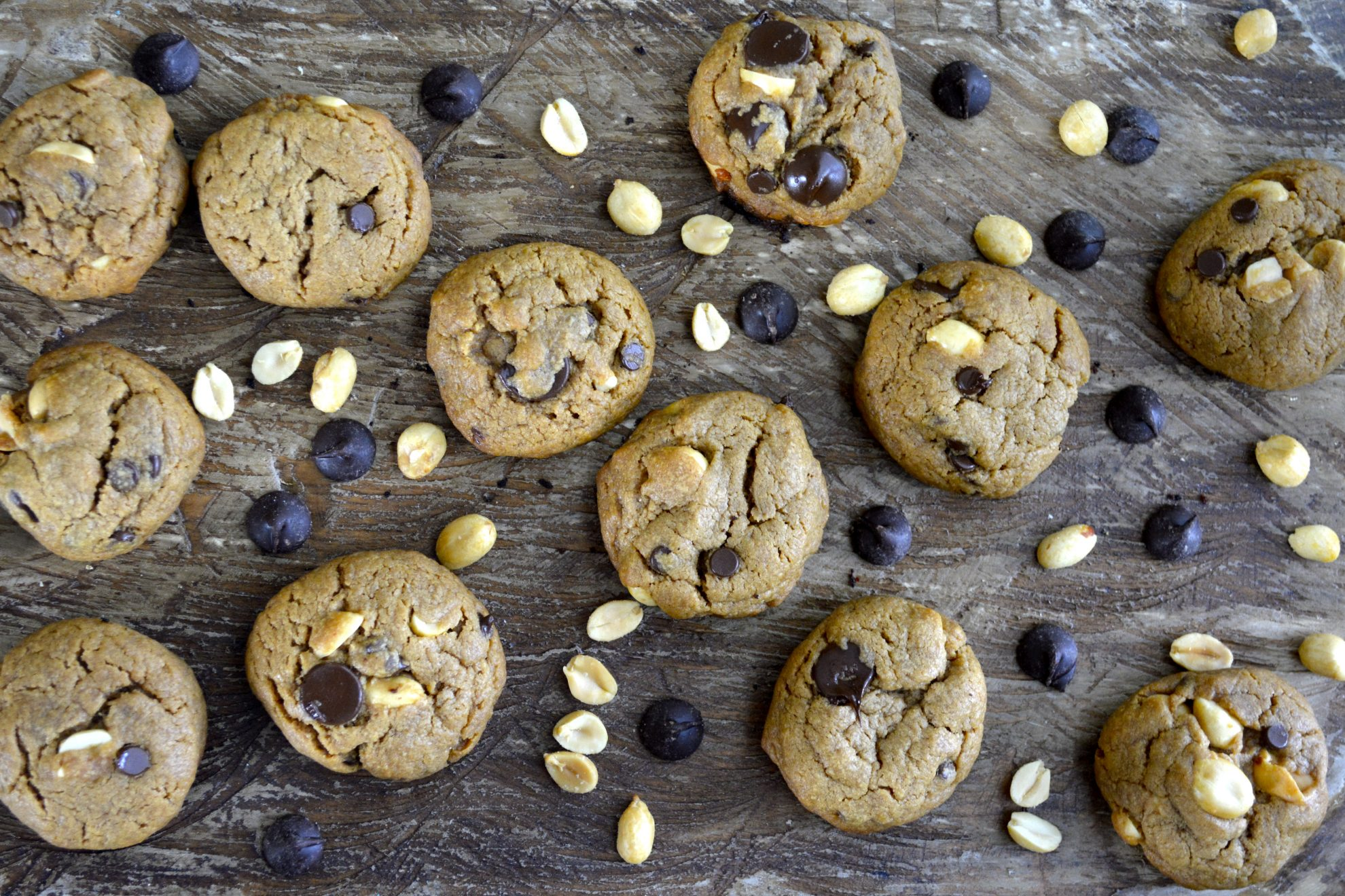 Flourless Peanut Butter Chocolate Chip Cookies - Maebells