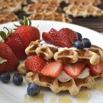 Banana Nut Oatmeal Waffles