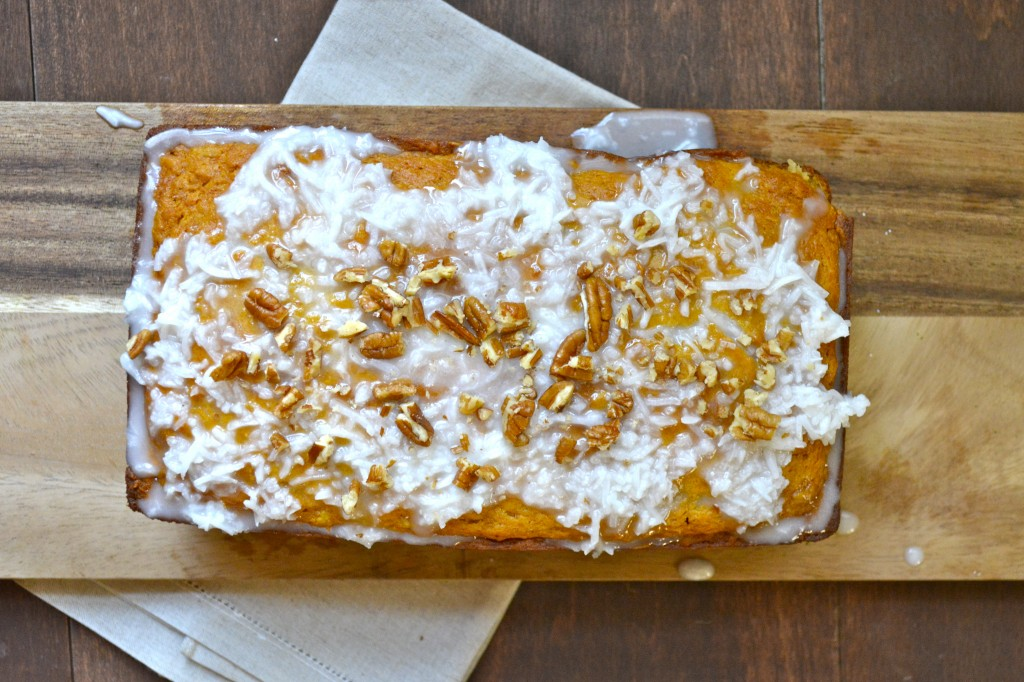 Tropical Mango Bread with Coconut Glaze (gluten free)