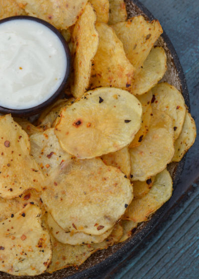 Learn how to make deliciously crispy, crunchy Homemade Potato Chips!