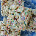 Cake Batter Bars (Gluten Free Cereal Bars)