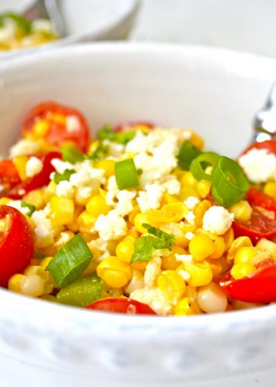 Grilled Sweet Corn Salad with Tomatoes and Lime