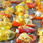 Buffalo Chicken Stuffed Sweet Peppers