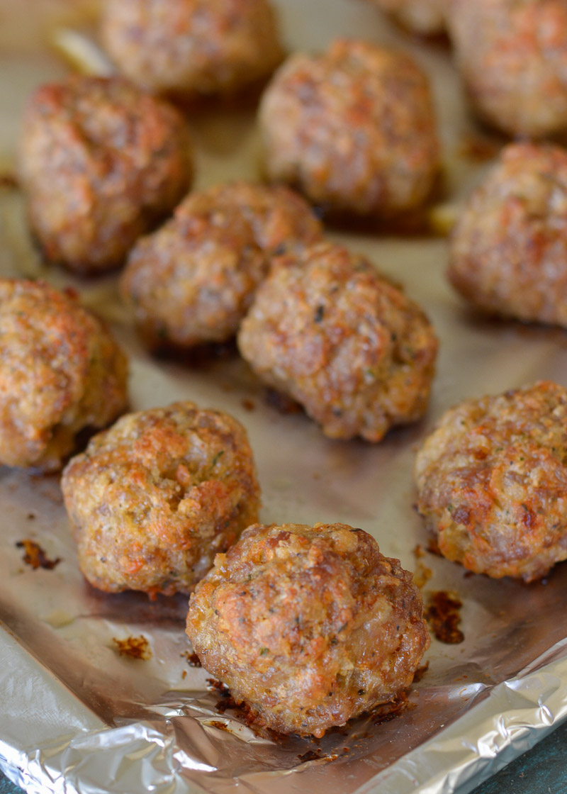 Keto meatballs are smothered in low carb marinara and parmesan for an easy low carb appetizer or meal.