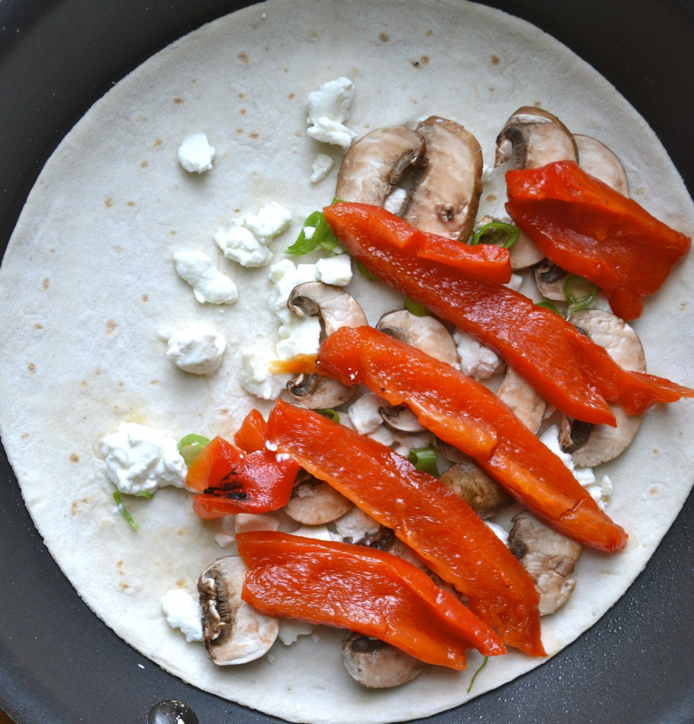 Greek Wraps with Roasted Red Peppers