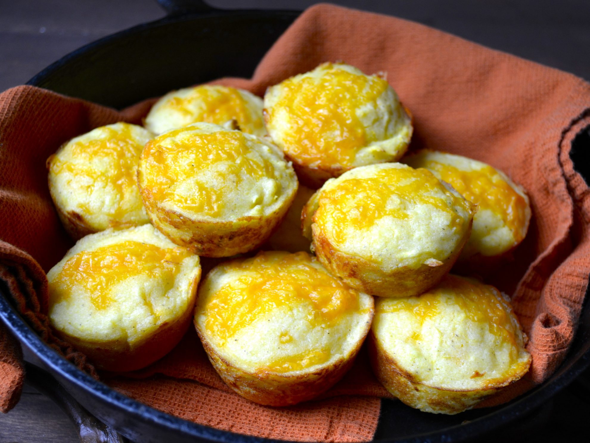 Cheddar and Summer Squash Cornmeal Muffins