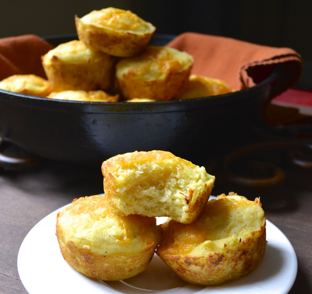 Cheddar and Summer Squash Cornmeal Muffins...totally delicious! www.maebells.com