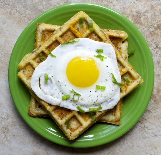 Sausage+Cheddar+Summer Squash Waffles..the ultimate breakfast! Make ahead of time for a grab and go breakfast!