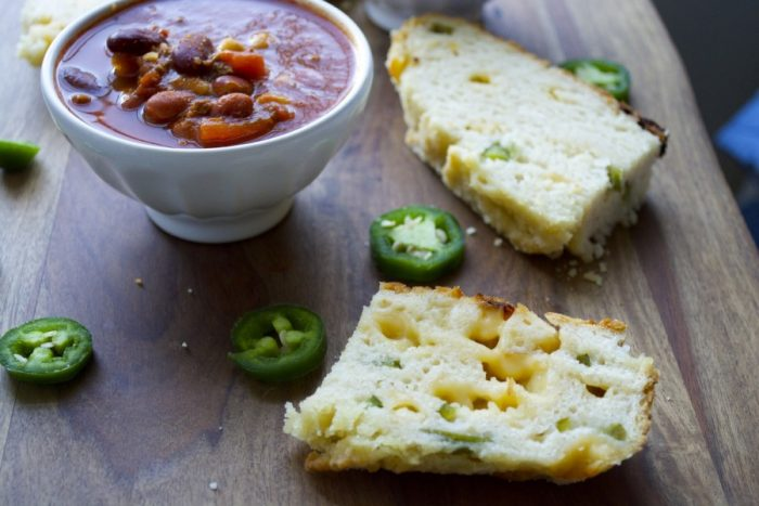 This gluten free Gouda and Jalapeno Bread is perfect for flavor packed sandwiches or serving with your favorite soups!