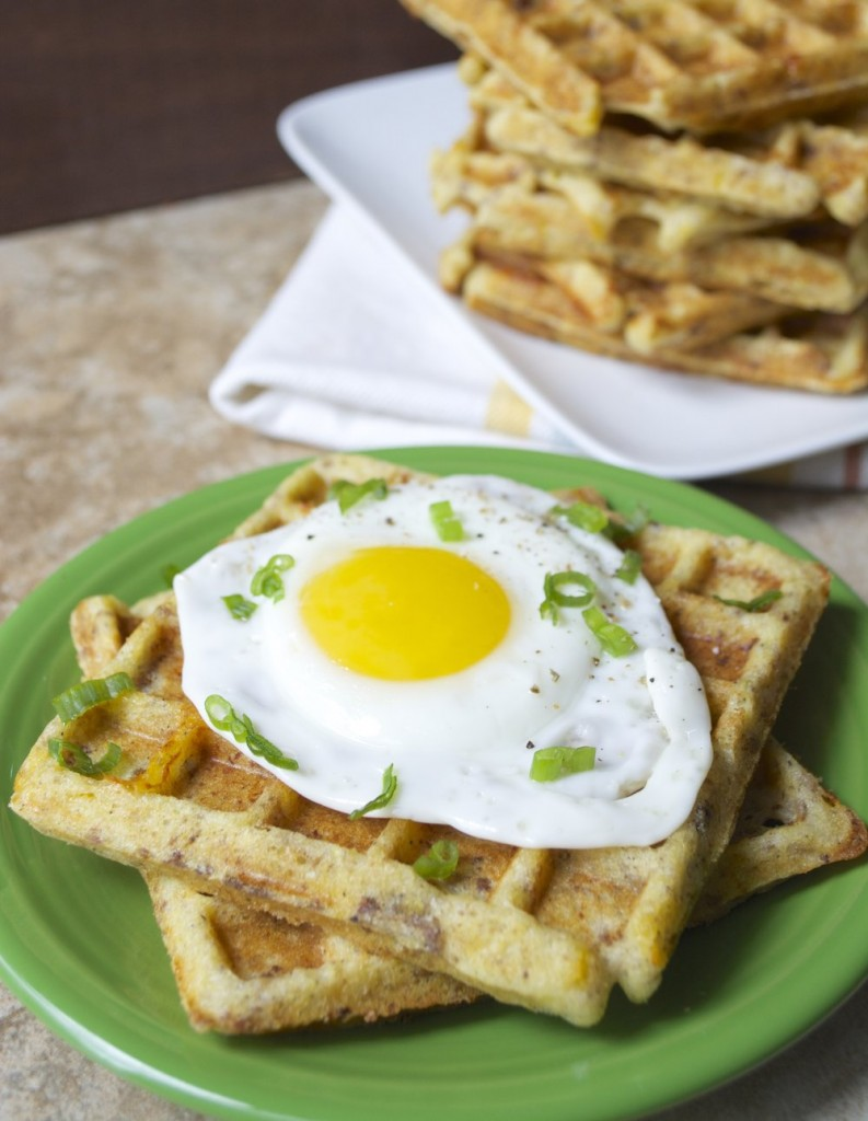 These Savory Sausage and Squash Waffles are the perfect healthy meal prep breakfast! Full of protein, veggies, and carbs these waffles will keep you fueled all morning long.