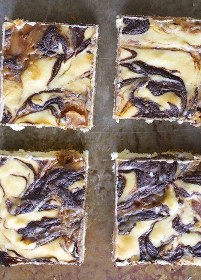 Salted Caramel Mocha Cheesecake Bars