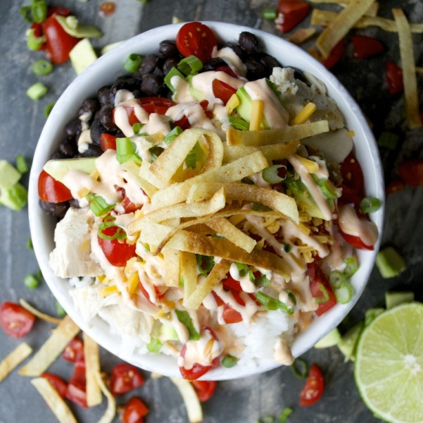 Seasoned Black Beans and Loaded Tex Mex Bowls, healthy and easy meal! Perfect for a weeknight!