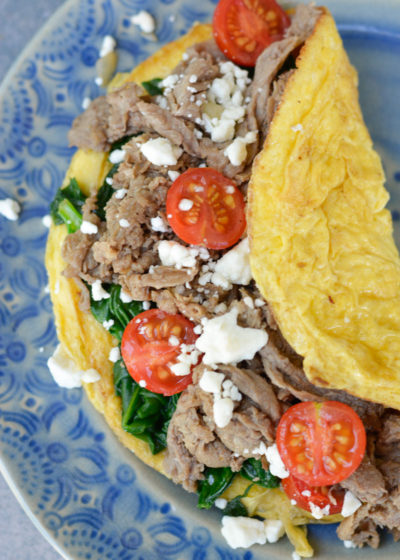 This Keto Steak Omelet is a protein-packed keto breakfast that is sure to keep you full for hours!