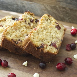 White Chocolate Cranberry Bread, totally gluten free! www.maebells.com