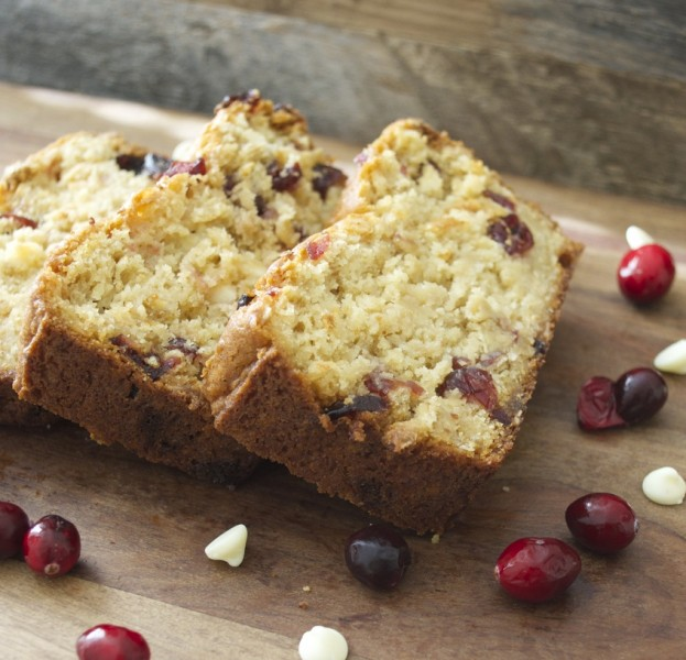 White Chocolate Cranberry Bread! Soft, sweet and packed with Holiday flavor!