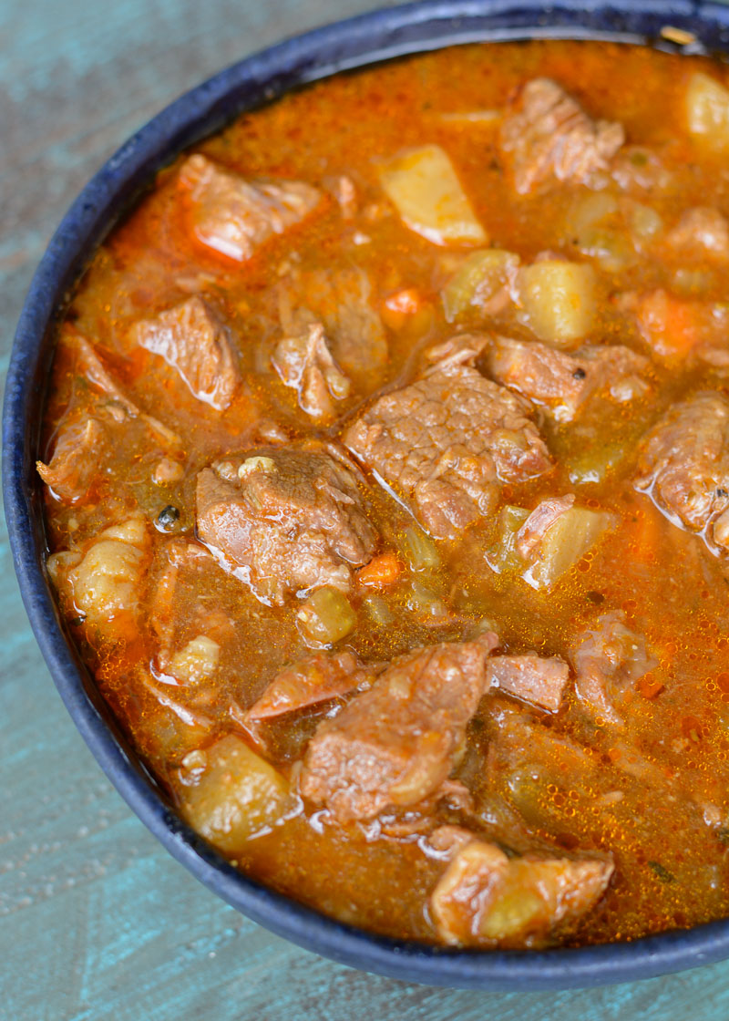 This Instant Pot Keto Beef Stew is loaded with tender shredded beef, and vegetables in a savory broth. Each serving of this stew is about 5 net carbs! This is the perfect low carb comfort food with stove-top, Instant Pot, or slow cooker directions!