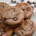 Chocolate Flourless Protein Muffins