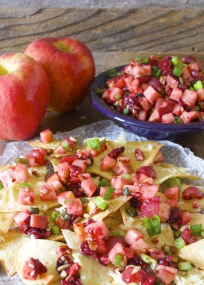 Ambrosia Apple Pico De Gallo, an incredible sweet and savory appetizer! #glutenfree #iloveambrosia www.maebells.com