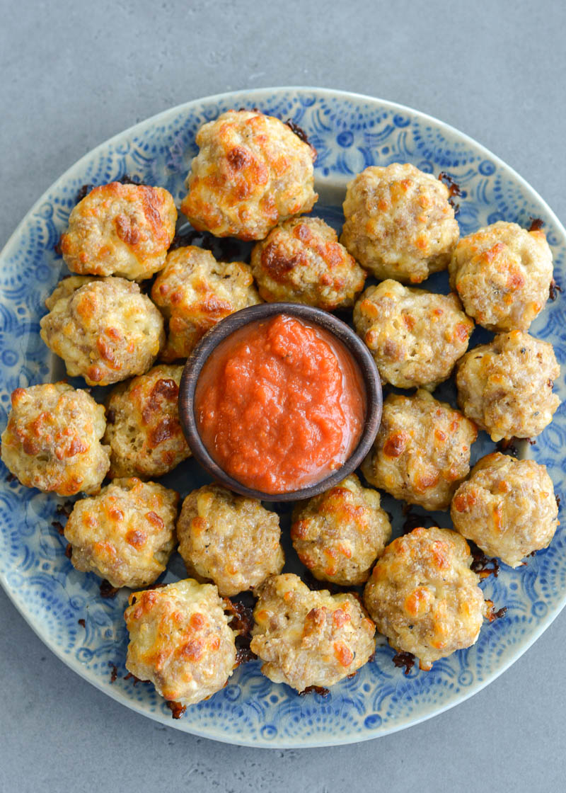 Easy Italian Sausage Balls! A flavor packed, low carb, keto-friendly appetizer that is so easy to make!