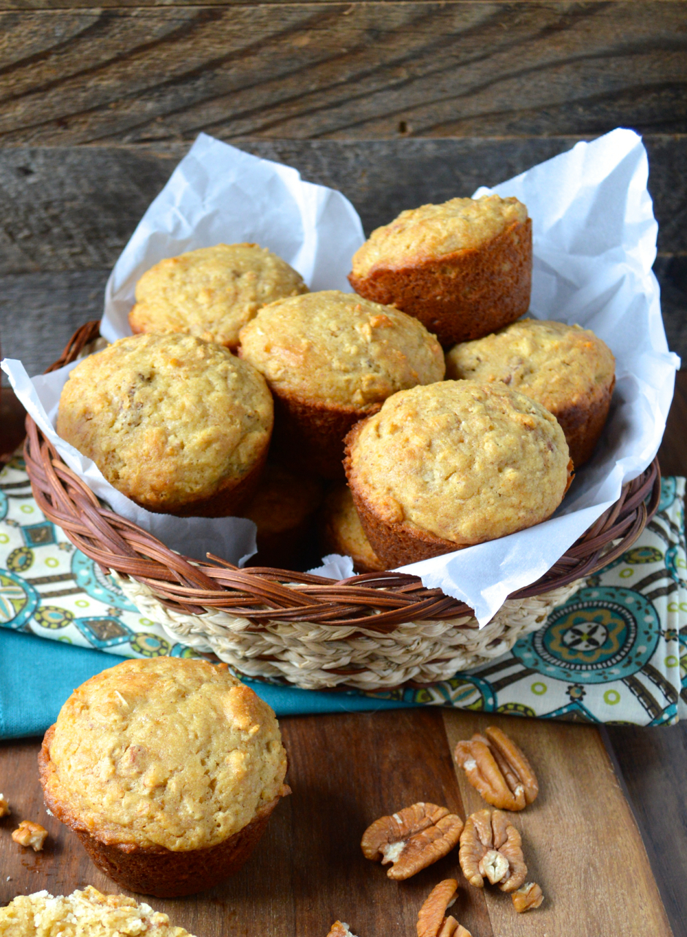 Easy gluten free Honey Pecan Muffins are packed with all your favorite ingredients!