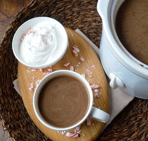 Slow Cooker Peppermint Mocha Cocoa, so easy and festive!