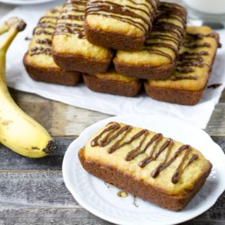 Gluten Free Banana Bread with Peanut Butter Cream