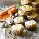 Carrot Ginger Muffins with Spiced Glaze