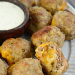 Cheddar Stuffed Meatballs (keto + low carb)