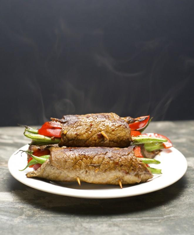 Crazy easy Five Ingredient Steak Rolls! An impressive dinner ready in just 20 minutes! #glutenfree www.maebells.com