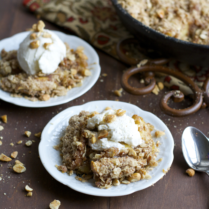 Peanut Butter Honey Apple Crisp, perfectly sweet and simple!