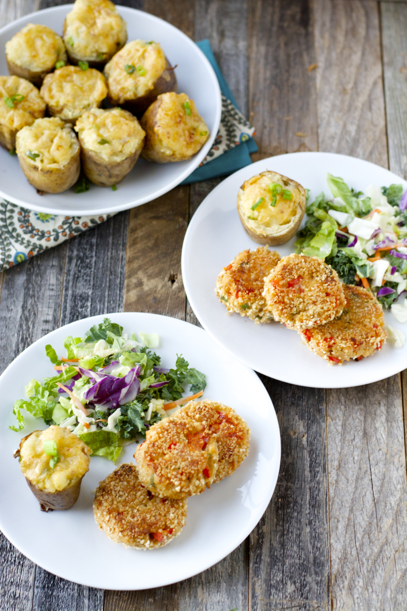 Baked Caesar Salmon Patties! Only 7 ingredients and totally gluten free! A super easy weeknight meal!