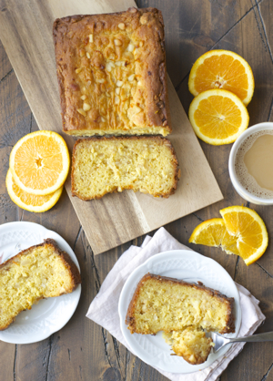 This easy gluten free Orange Bread features sweet white chocolate and salty macadamia nuts for a delicious, sweet treat!