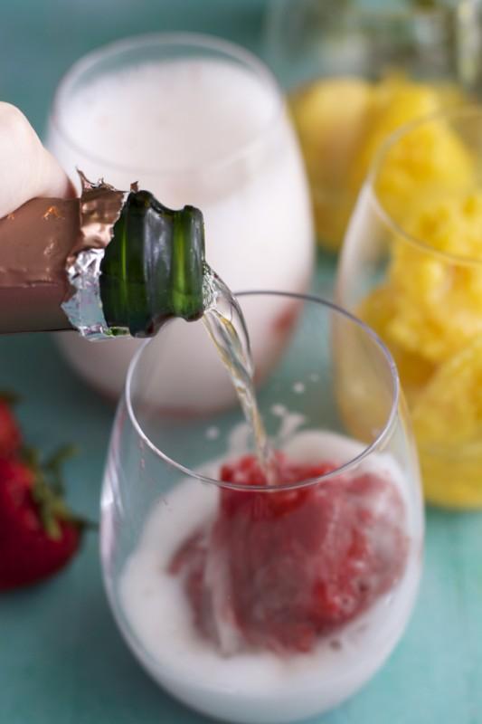 Two ingredient Sorbet with Gloria Ferrer Sparkling Wine! #begloriouscontest #sponsored