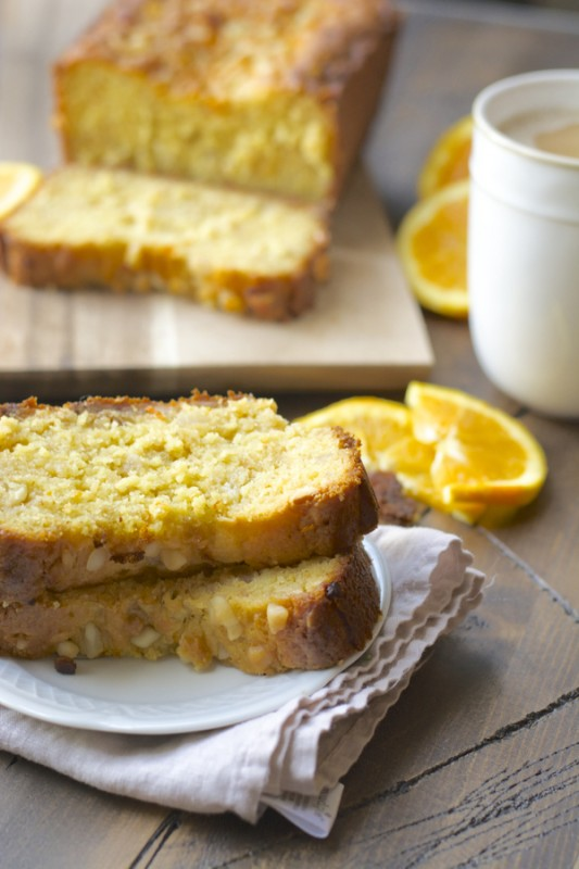 White Chocolate and Macadamia Nut Orange Bread