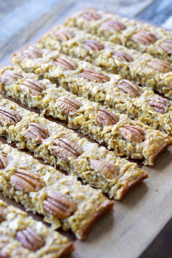Banana Nut Oatmeal Bars, a simple healthy treat!