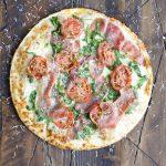 Grilled Veggie Pizza with Crispy Prosciutto
