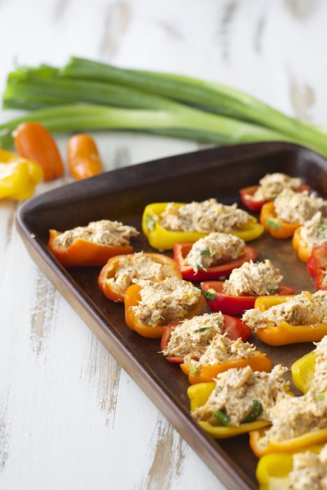 Tuna Stuffed Peppers, packed with flavor and super easy!