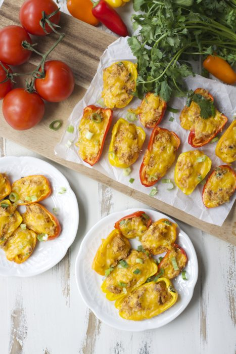 Tuna Stuffed Sweet Peppers, packed with flavor and super easy!