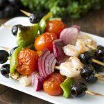 Mediterranean Grilled Shrimp Skewers (low carb + keto)