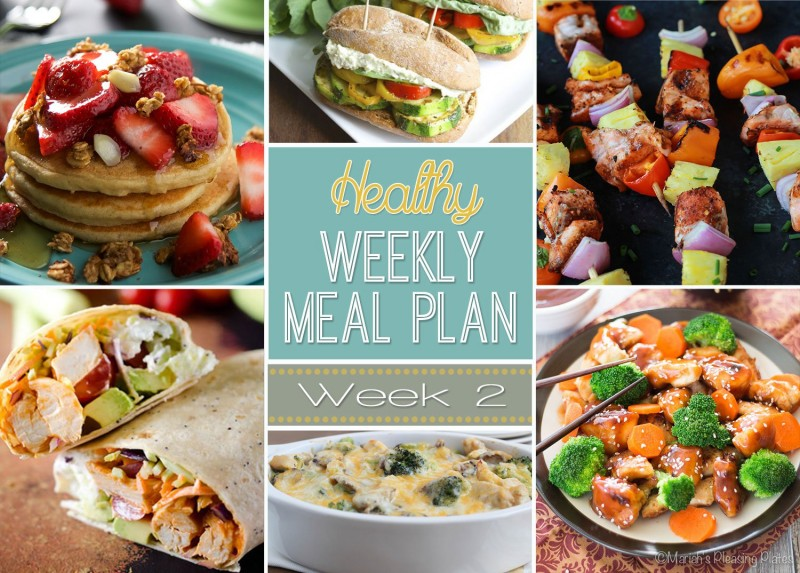 A weeks worth of totally healthy meals! Already planned for you!