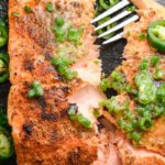 Salmon with Jalapeño Lime Butter (keto + low carb)