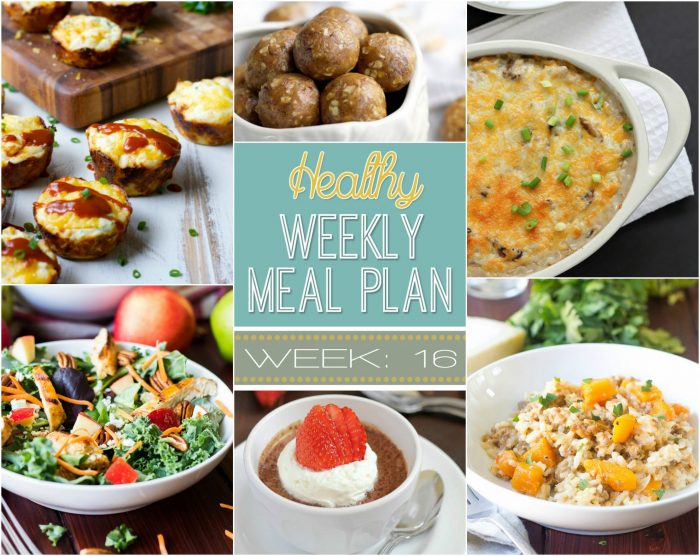 Healthy Meal Plan Week 16