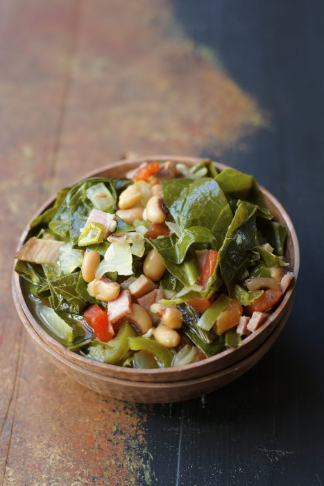 Crock Pot Black Eyed Peas and Collard Greens are the ultimate Southern Comfort food!