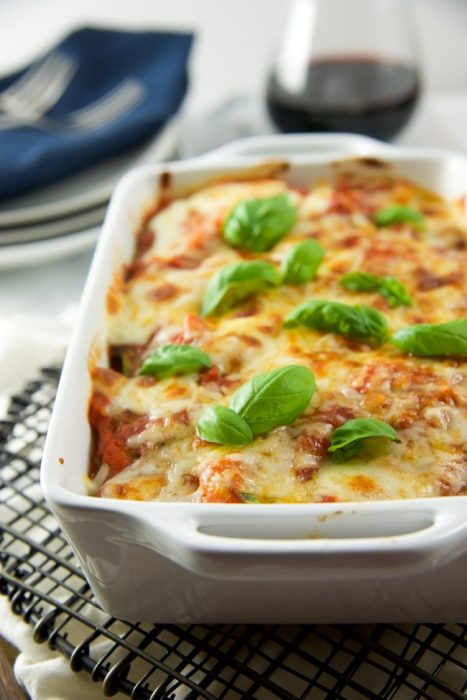 Baked Spinach and Mozzarella Florentine
