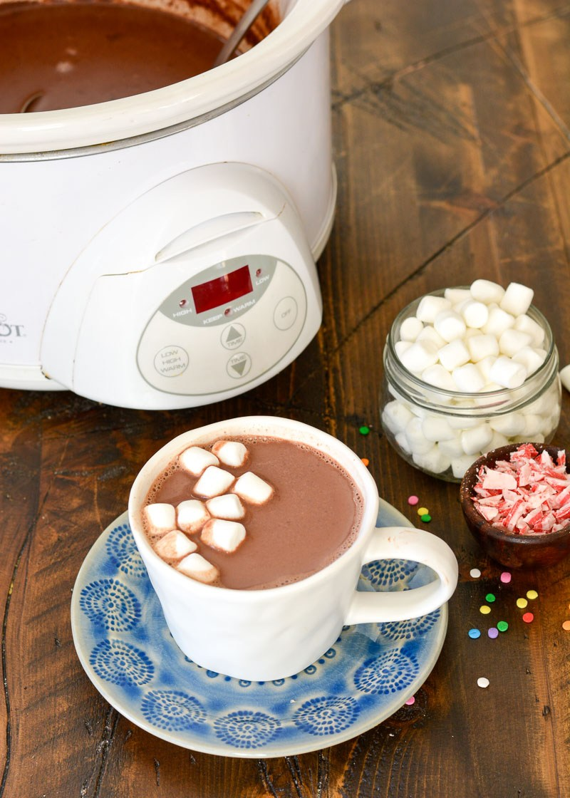 This easy Slow Cooker Hot Chocolate is silky smooth and full of rich, chocolate flavor! This effortless recipe makes holiday entertaining a breeze!
